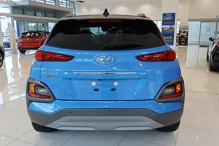 2020 Hyundai Kona OS.3 MY20 Highlander TTR (FWD) Blue Lagoon & Black Roof 6 Speed Automatic Wagon