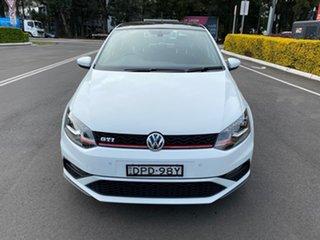 2017 Volkswagen Polo 6R MY17 GTi White 6 Speed Manual Hatchback.