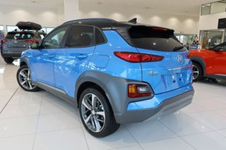 2020 Hyundai Kona OS.3 MY20 Highlander TTR (FWD) Blue Lagoon & Black Roof 6 Speed Automatic Wagon.