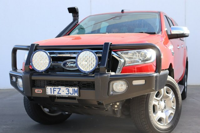 Used Ford Ranger PX MkII XLT Double Cab, 2016 Ford Ranger PX MkII XLT Double Cab Red 6 Speed Sports Automatic Utility