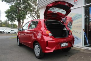 2020 Mitsubishi Mirage LB MY21 ES Red Planet 1 Speed Constant Variable Hatchback