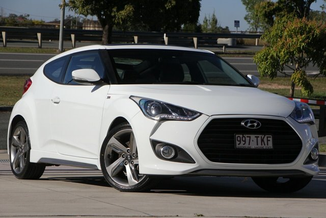 Used Hyundai Veloster FS2 SR Coupe Turbo, 2013 Hyundai Veloster FS2 SR Coupe Turbo White 6 Speed Sports Automatic Hatchback