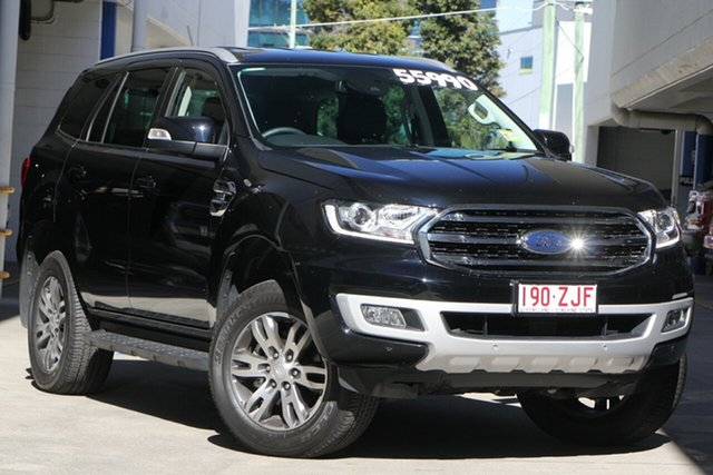 Demo Ford Everest UA II 2019.00MY Trend 4WD, 2019 Ford Everest UA II 2019.00MY Trend 4WD Shadow Black 6 Speed Sports Automatic Wagon
