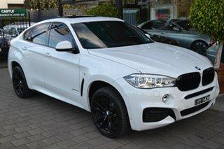 2017 BMW X6 F16 xDrive30d Coupe Steptronic White 8 Speed Sports Automatic Wagon.
