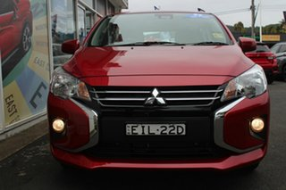 2020 Mitsubishi Mirage LB MY21 ES Red Planet 1 Speed Constant Variable Hatchback.