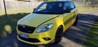2012 Skoda Fabia 5JF MY13 RS 132 TSI Yellow 7 Speed Auto Direct Shift Hatchback.
