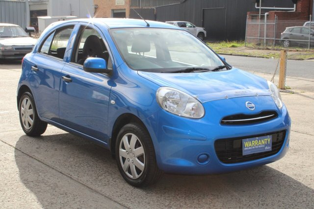 Used Nissan Micra K13 ST-L West Footscray, 2011 Nissan Micra K13 ST-L Blue 4 Speed Automatic Hatchback