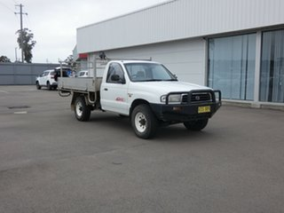 1999 Mazda Bravo B2500 DX White 5 Speed Manual Cab Chassis.