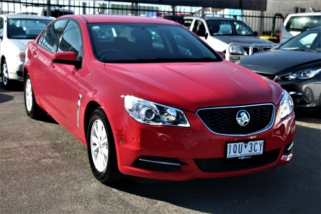 Used Holden Commodore VF MY15 Evoke, 2015 Holden Commodore VF MY15 Evoke Red 6 Speed Sports Automatic Sedan