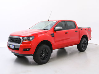 2017 Ford Ranger PX MkII MY17 XLS 3.2 (4x4) Red 6 Speed Automatic Dual Cab Utility.