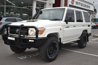 2017 Toyota Landcruiser VDJ76R Workmate White 5 Speed Manual Wagon