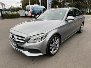 2014 Mercedes-Benz C-Class S205 C200 Estate 7G-Tronic + Silver 7 Speed Sports Automatic Wagon.