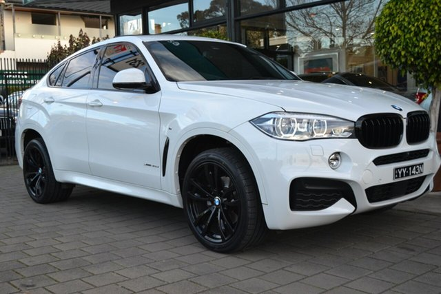 Used BMW X6 F16 xDrive30d Coupe Steptronic, 2017 BMW X6 F16 xDrive30d Coupe Steptronic White 8 Speed Sports Automatic Wagon