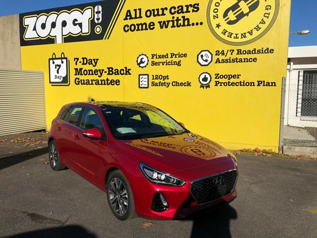 Used Hyundai i30 PD2 MY20 Premium, 2019 Hyundai i30 PD2 MY20 Premium Firey Red 6 Speed Sports Automatic Hatchback