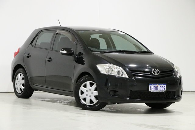 Used Toyota Corolla ZRE152R MY10 Ascent, 2010 Toyota Corolla ZRE152R MY10 Ascent Black 4 Speed Automatic Hatchback