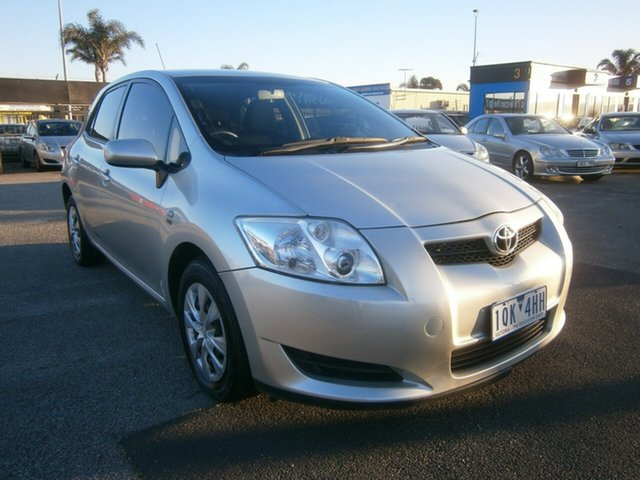 Used Toyota Corolla ZRE152R Ascent, 2008 Toyota Corolla ZRE152R Ascent Silver 6 Speed Manual Hatchback