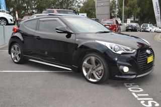 2013 Hyundai Veloster FS2 SR Coupe Turbo Black 6 Speed Sports Automatic Hatchback.