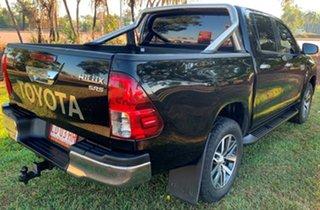 2018 Toyota Hilux GUN126R SR5 Double Cab Black 6 Speed Sports Automatic Utility.