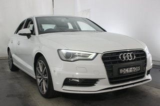 2015 Audi A3 8V MY15 Ambition S Tronic Glacier White 7 Speed Sports Automatic Dual Clutch Sedan.