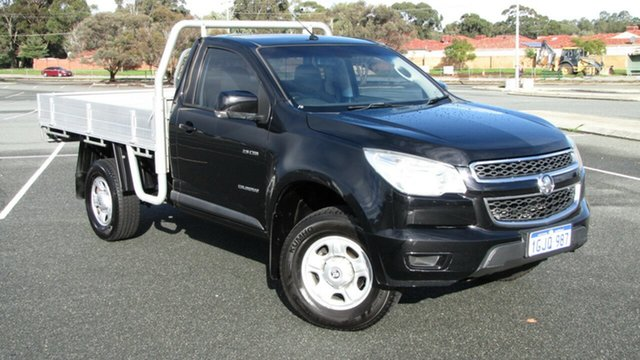 Used Holden Colorado RG MY13 LX 4x2, 2013 Holden Colorado RG MY13 LX 4x2 Black 5 Speed Manual Cab Chassis