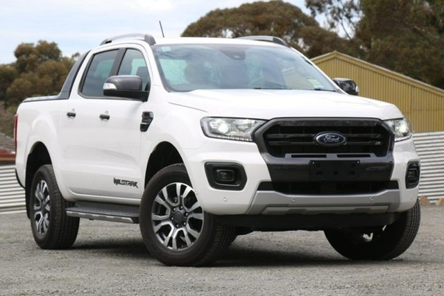 Used Ford Ranger PX MkIII 2019.00MY Wildtrak Pick-up Double Cab, 2019 Ford Ranger PX MkIII 2019.00MY Wildtrak Pick-up Double Cab White 10 Speed Sports Automatic