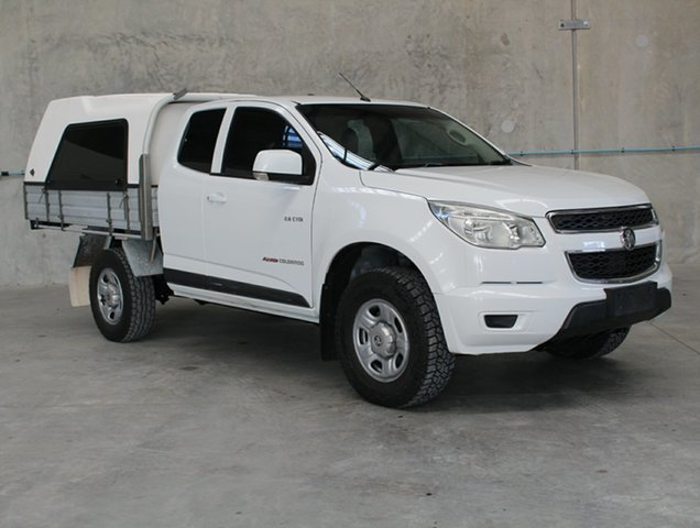 Used Holden Colorado RG MY14 LX Space Cab, 2014 Holden Colorado RG MY14 LX Space Cab White 6 speed Manual Cab Chassis