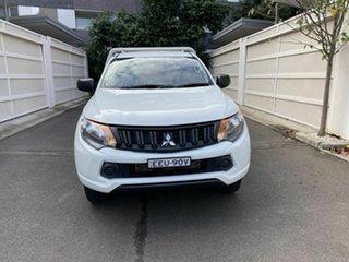 2018 Mitsubishi Triton MQ MY18 GLX 4x2 White 5 Speed Sports Automatic Cab Chassis.