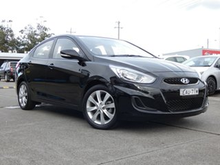 2018 Hyundai Accent RB6 MY19 Sport Black 6 Speed Sports Automatic Sedan.