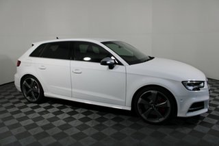 2019 Audi S3 8V MY20 S Tronic Quattro White 7 Speed Sports Automatic Dual Clutch Sedan.