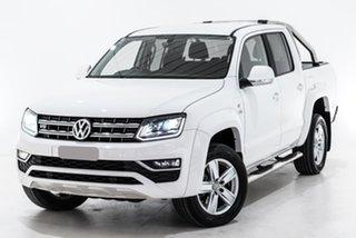 2019 Volkswagen Amarok 2H MY19 TDI550 4MOTION Perm Highline White 8 Speed Automatic Utility.