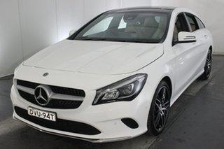 2018 Mercedes-Benz CLA220 X117 808+058MY d Shooting Brake DCT White 7 Speed