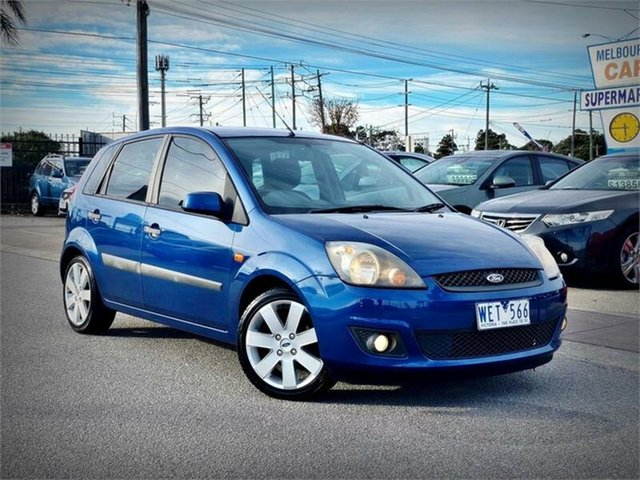 Used Ford Fiesta WQ Zetec, 2008 Ford Fiesta WQ Zetec Blue 4 Speed Automatic Hatchback