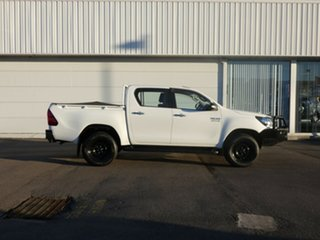 2015 Toyota Hilux GUN126R SR Double Cab White 6 Speed Sports Automatic Cab Chassis
