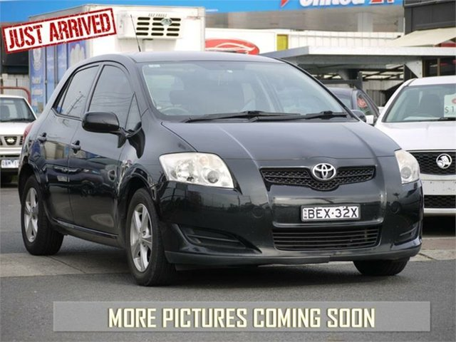 Used Toyota Corolla ZRE152R Ascent, 2008 Toyota Corolla ZRE152R Ascent Black 4 Speed Automatic Hatchback