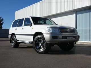 2003 Toyota Landcruiser HZJ105R GXL White 5 Speed Manual Wagon.
