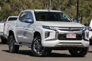 2019 Mitsubishi Triton MR MY19 GLS Double Cab White Diamond 6 Speed Sports Automatic Utility.