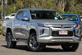 2019 Mitsubishi Triton MR MY19 GLS Double Cab Sterling Silver 6 Speed Sports Automatic Utility.