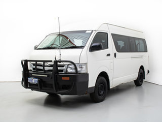 2011 Toyota HiAce KDH223R MY11 Upgrade Commuter White Bus.