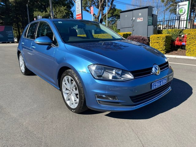 Used Volkswagen Golf VII MY16 110TSI DSG Highline, 2016 Volkswagen Golf VII MY16 110TSI DSG Highline Blue 7 Speed Sports Automatic Dual Clutch