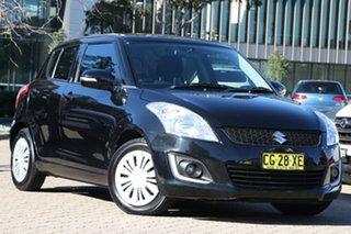 2013 Suzuki Swift FZ MY14 GL Black Automatic Hatchback.