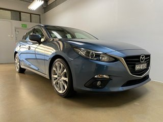 2015 Mazda 3 BM MY15 SP25 Blue 6 Speed Automatic Sedan.