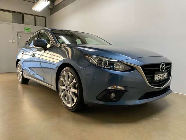 Used Mazda 3 BM MY15 SP25, 2015 Mazda 3 BM MY15 SP25 Blue 6 Speed Automatic Sedan