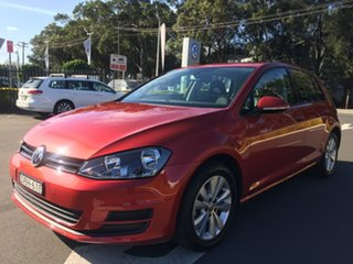 2015 Volkswagen Golf VII MY16 92TSI DSG Comfortline Red 7 Speed Sports Automatic Dual Clutch.