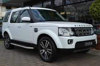 2016 Land Rover Discovery Series 4 L319 MY16.5 SDV6 HSE White 8 Speed Sports Automatic Wagon.