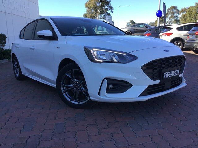 Demo Ford Focus SA 2019.75MY ST-Line, 2019 Ford Focus SA 2019.75MY ST-Line Frozen White 8 Speed Automatic Hatchback