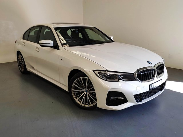 Demo BMW 320d G20 M Sport Steptronic, 2019 BMW 320d G20 M Sport Steptronic Mineral White 8 Speed Sports Automatic Sedan