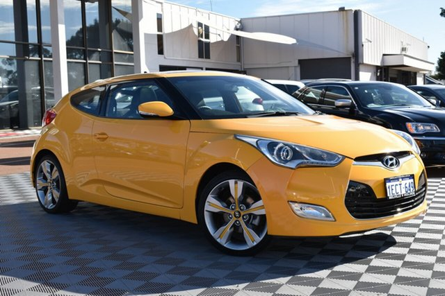 Used Hyundai Veloster FS + Coupe, 2012 Hyundai Veloster FS + Coupe Yellow 6 Speed Manual Hatchback