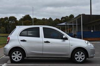 2012 Nissan Micra K13 ST Silver 4 Speed Automatic Hatchback.