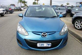 2013 Mazda 2 DE MY14 Neo Sport Blue 5 Speed Manual Hatchback.