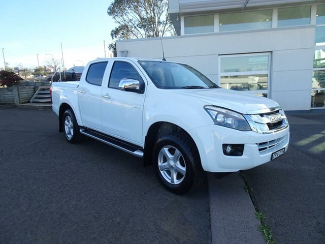 Used Isuzu D-MAX MY14 LS-U Crew Cab, 2013 Isuzu D-MAX MY14 LS-U Crew Cab White 5 Speed Manual Utility